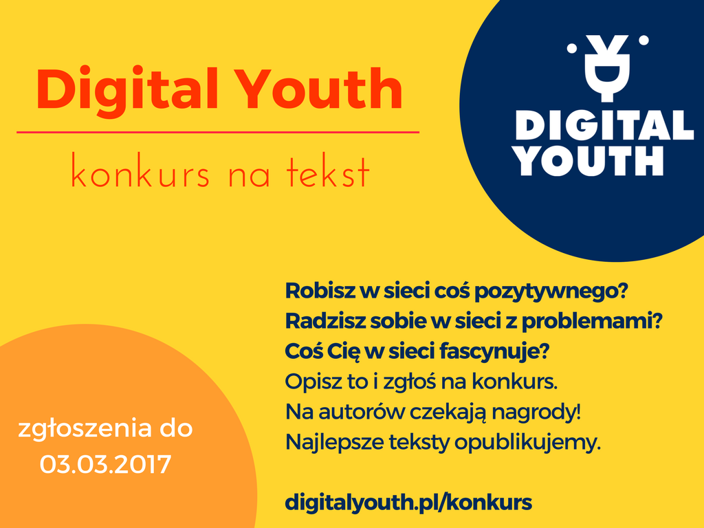 Digital Youth - konkurs na tekst